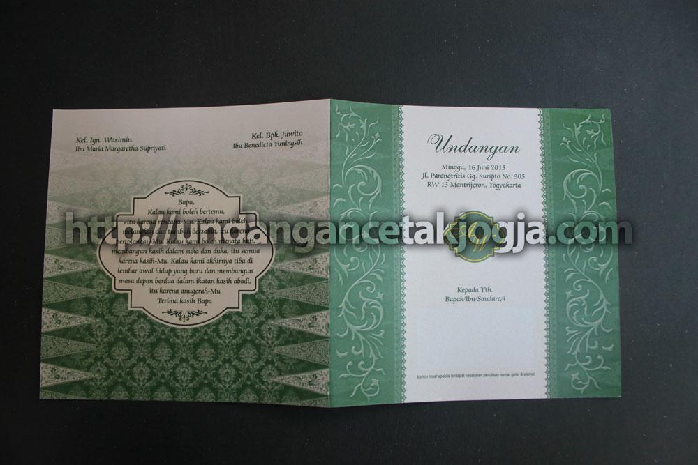Undangan Pernikahan Batik Jawa