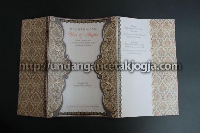Undangan Nikah Batik Jawa Murah Cici & Fajar