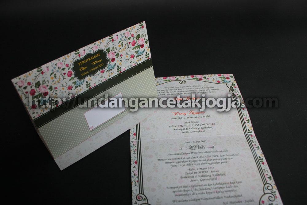 Undangan Pernikahan Vintage Murah 05