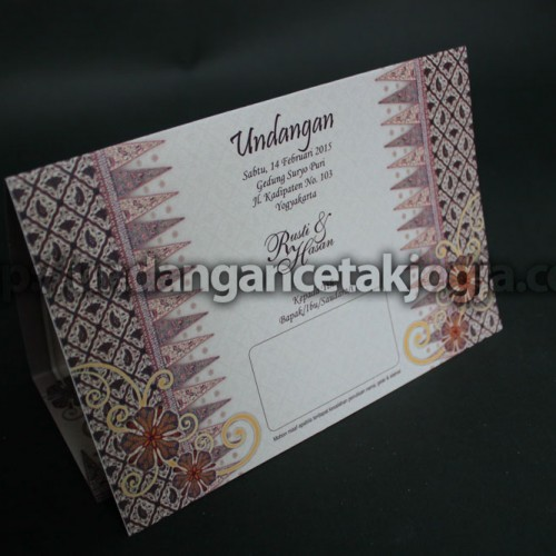 Undangan Motif Batik Klasik