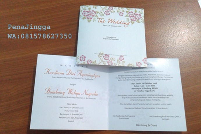 Undangan Pernikahan Murah Motif Bunga