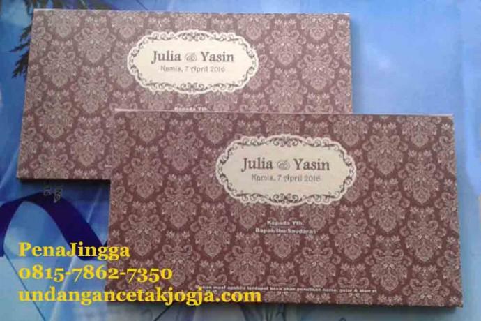 Undangan Hard Cover Murah Batik Jawa