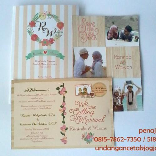 Undangan Pernikahan Single Hardcover Rani-Wawan