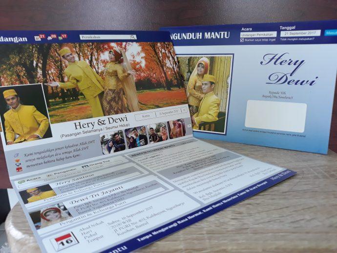 Undangan Pernikahan Model Facebook