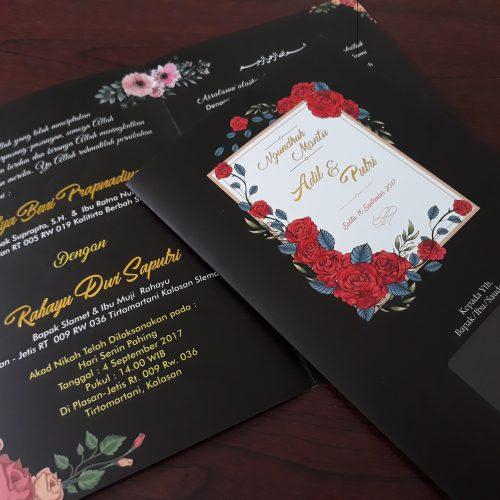 Undangan Pernikahan Motif Bunga