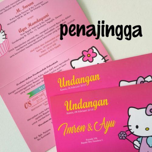 undangan pernikahan hello kitty