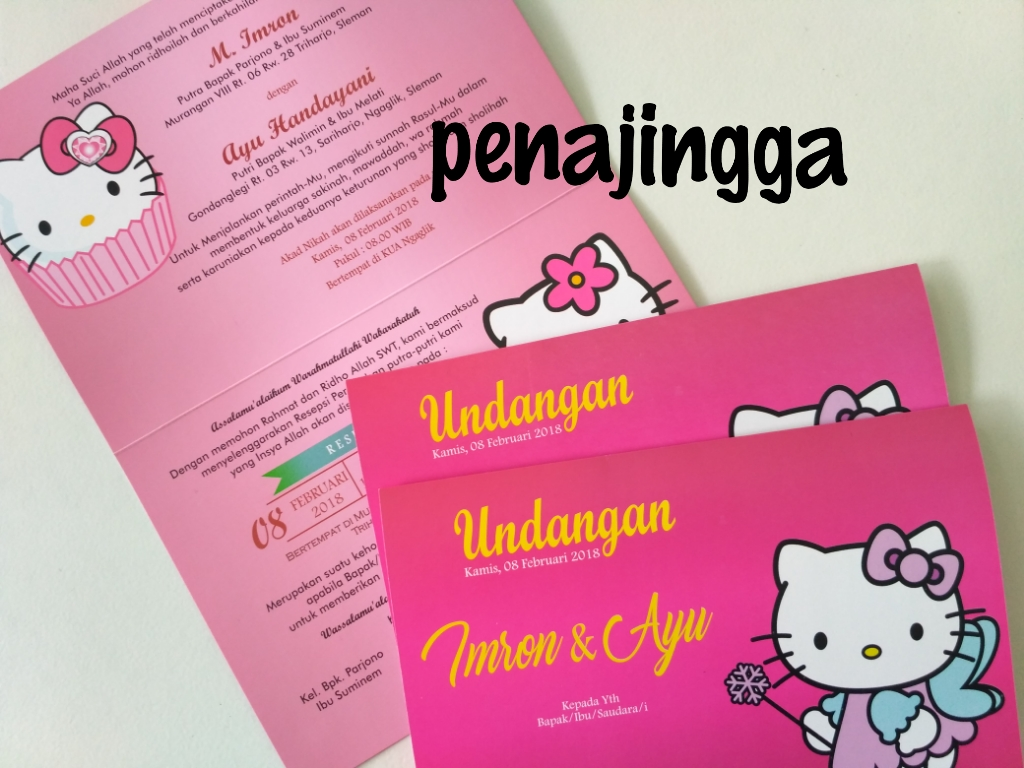 undangan pernikahan hello kitty