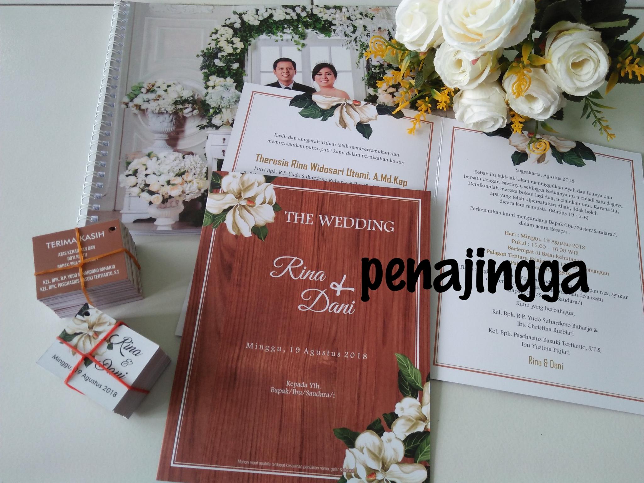 undangan pernikahan vintage murah