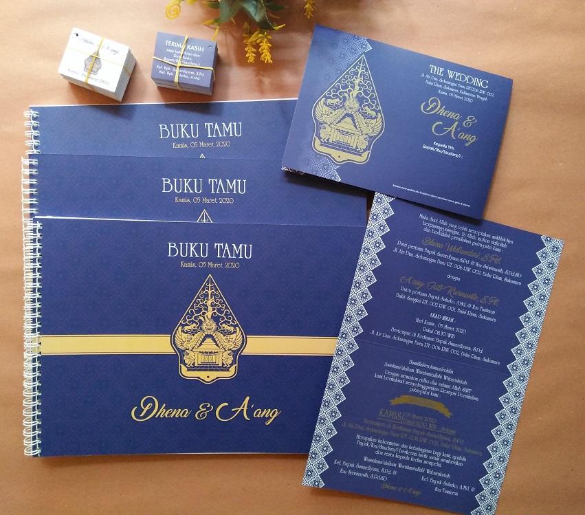 Undangan Pernikahan Jogja Motif Gunungan
