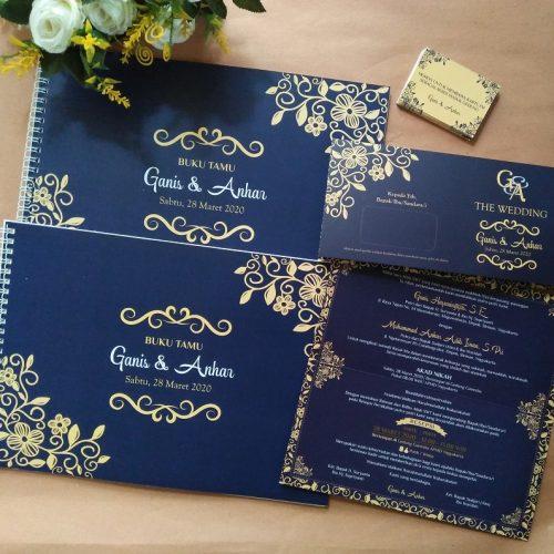 Undangan Pernikahan Jogja Motif Retro