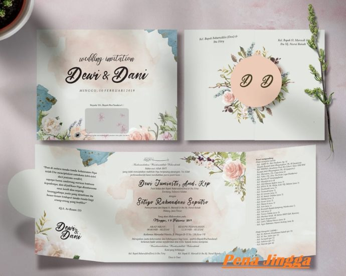 Undangan Pernikahan Blangko