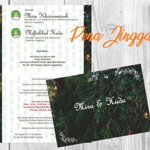 Undangan Pernikahan Mira Huda