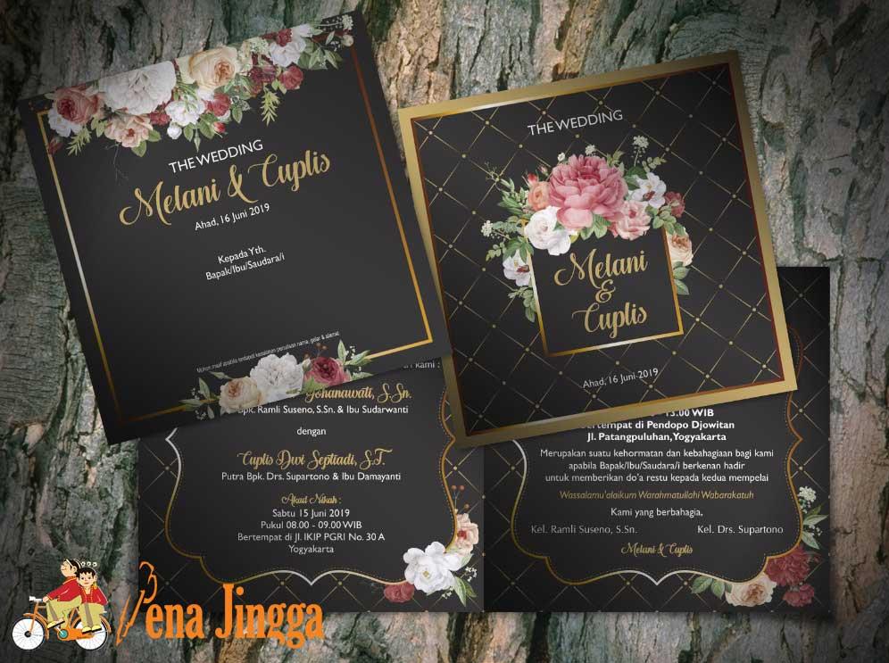 Undangan Pernikahan Floral Jogja